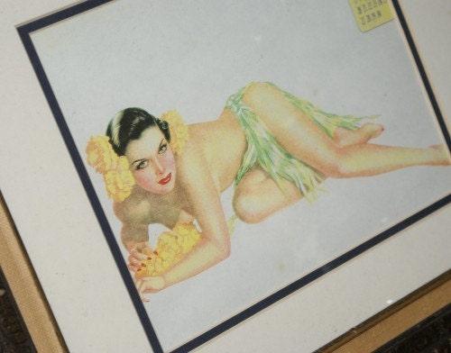 Vargas Hula Girl Circa WWII