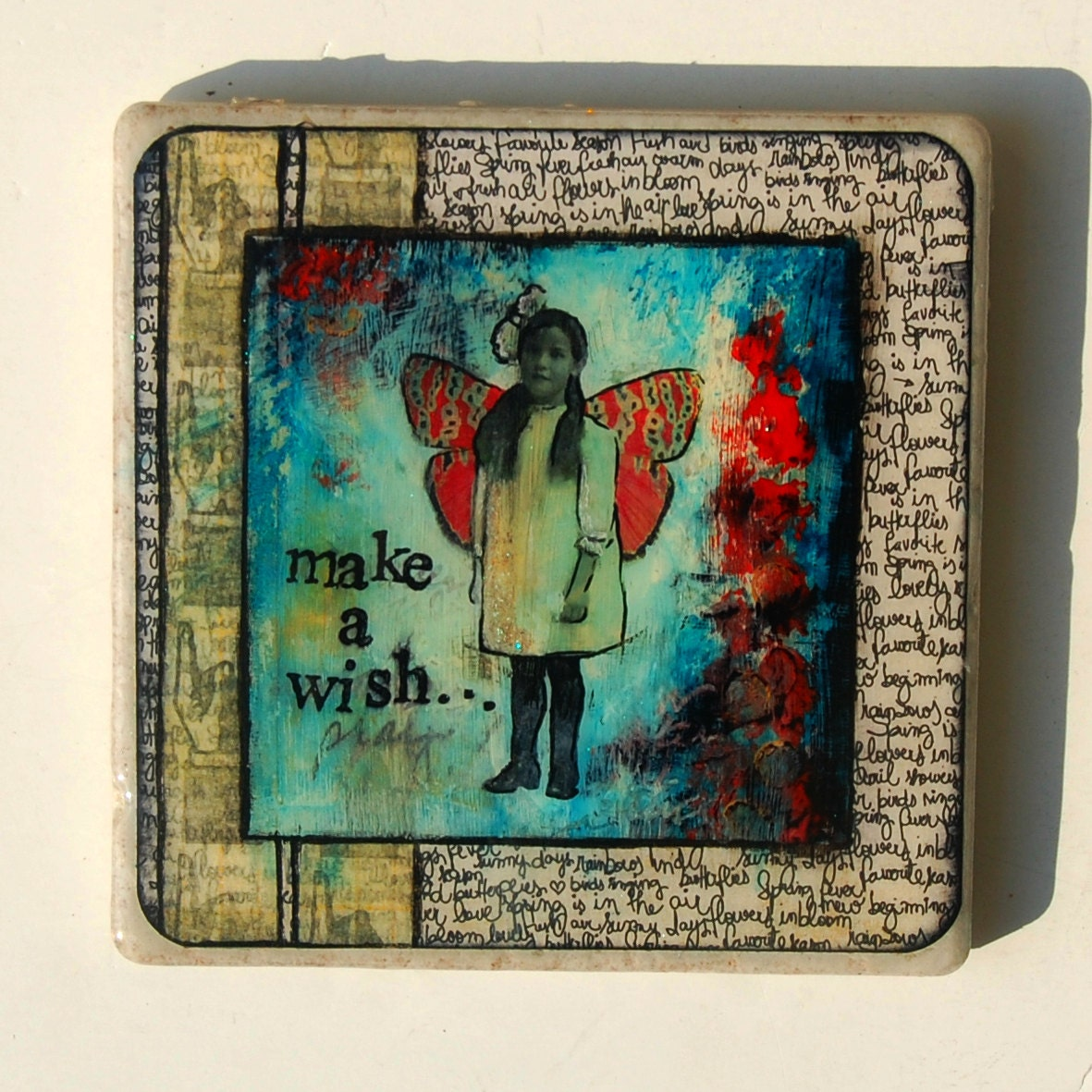 "Make a Wish - 6x6"" Tile Artwork"