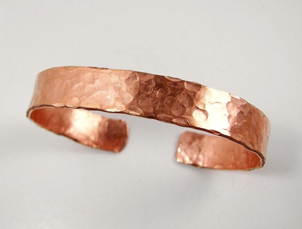 Hammered Copper Cuff Bracelet Blank Ready to Work