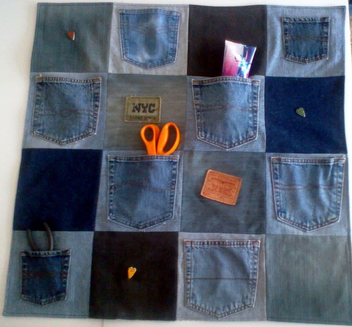 Dorm Room джинсовой Организатор - настенный - 30