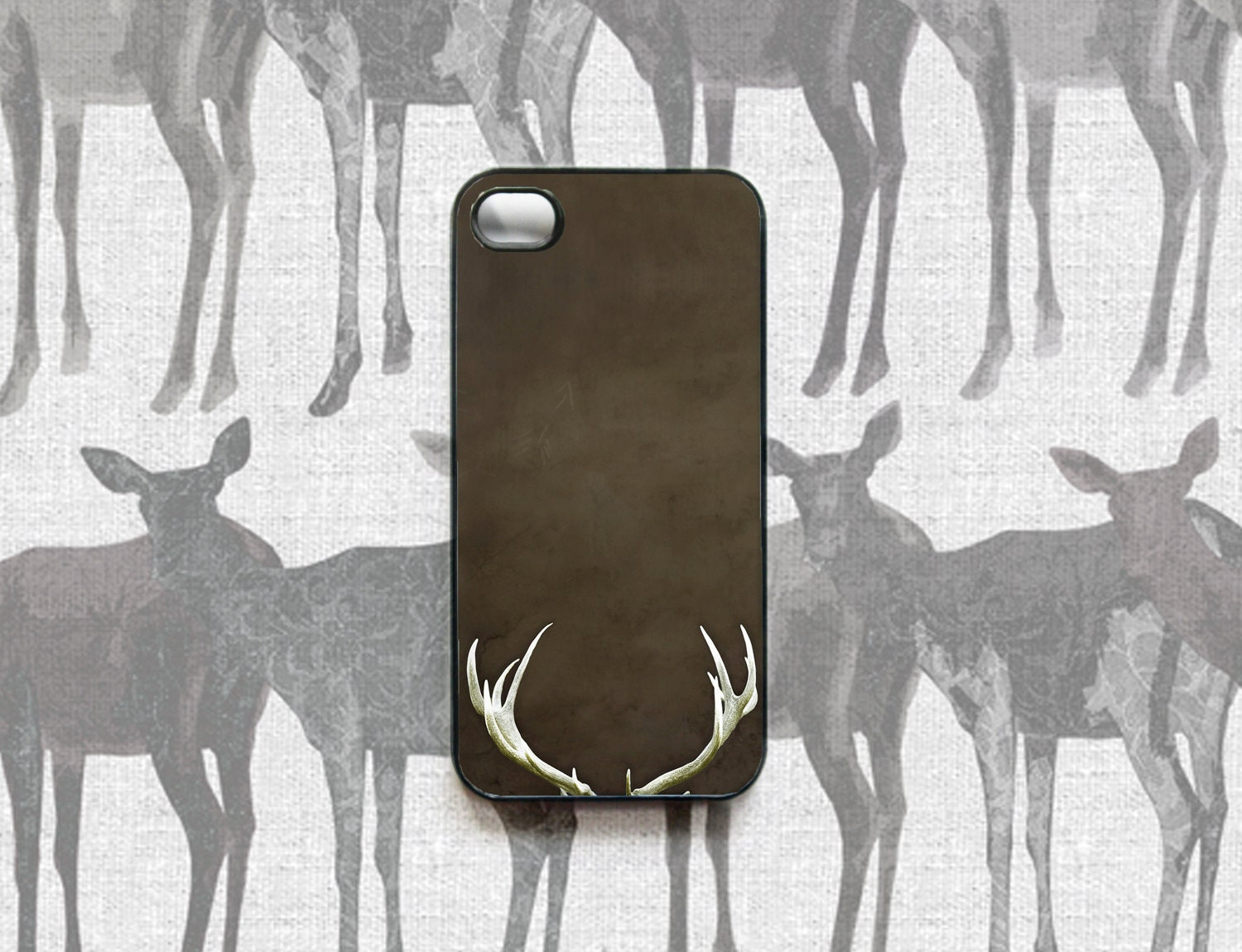 Cell phone, phone case - antlers case for your iPhone 4 - cell phone accessory - tribal outdoors deer men (In Stock) - Raceytay