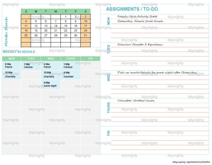 assignment log for students