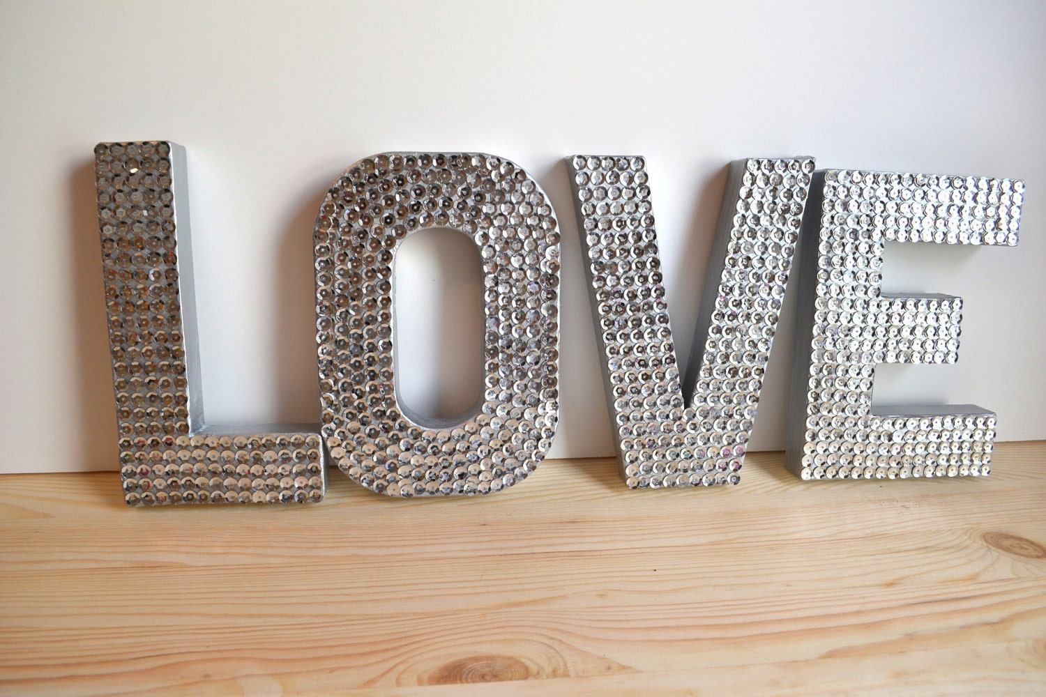 NEW- Mini Sequin LOVE Letters for Wedding or Decor