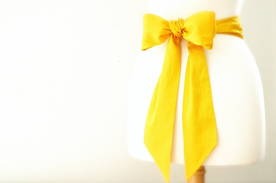 citrine party dress sash