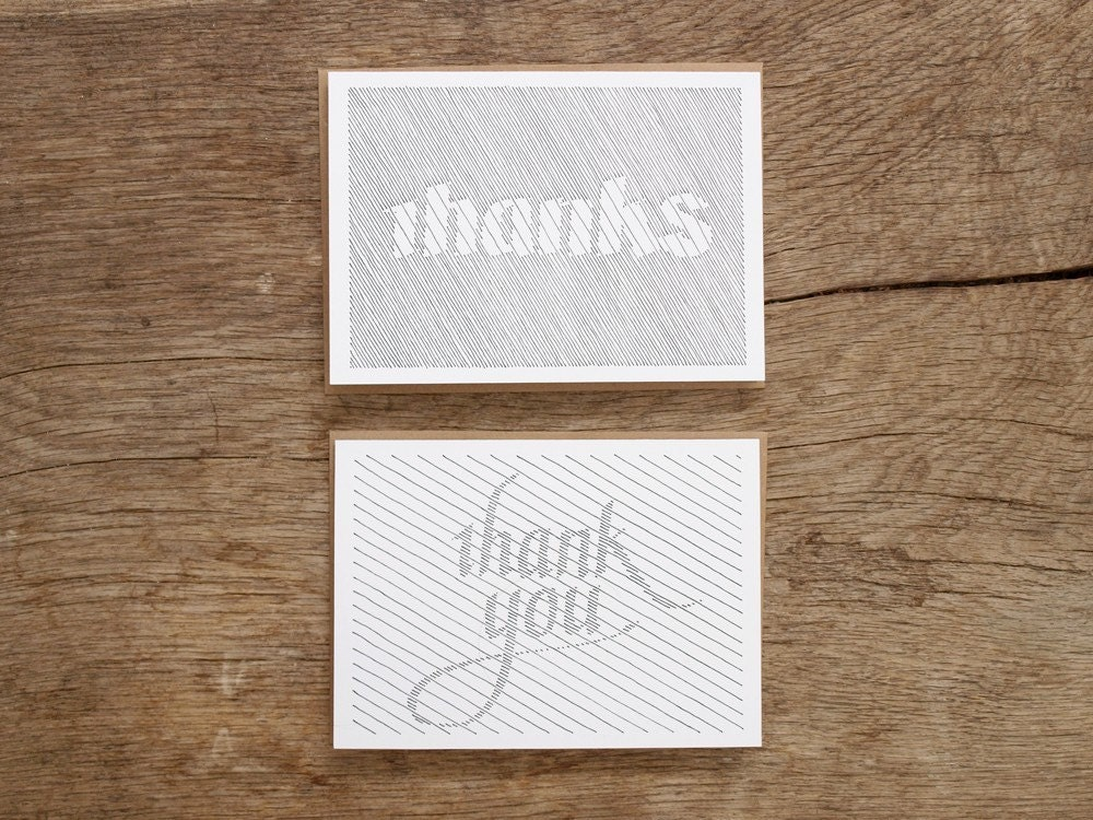 8 Thank You Cards (A2)