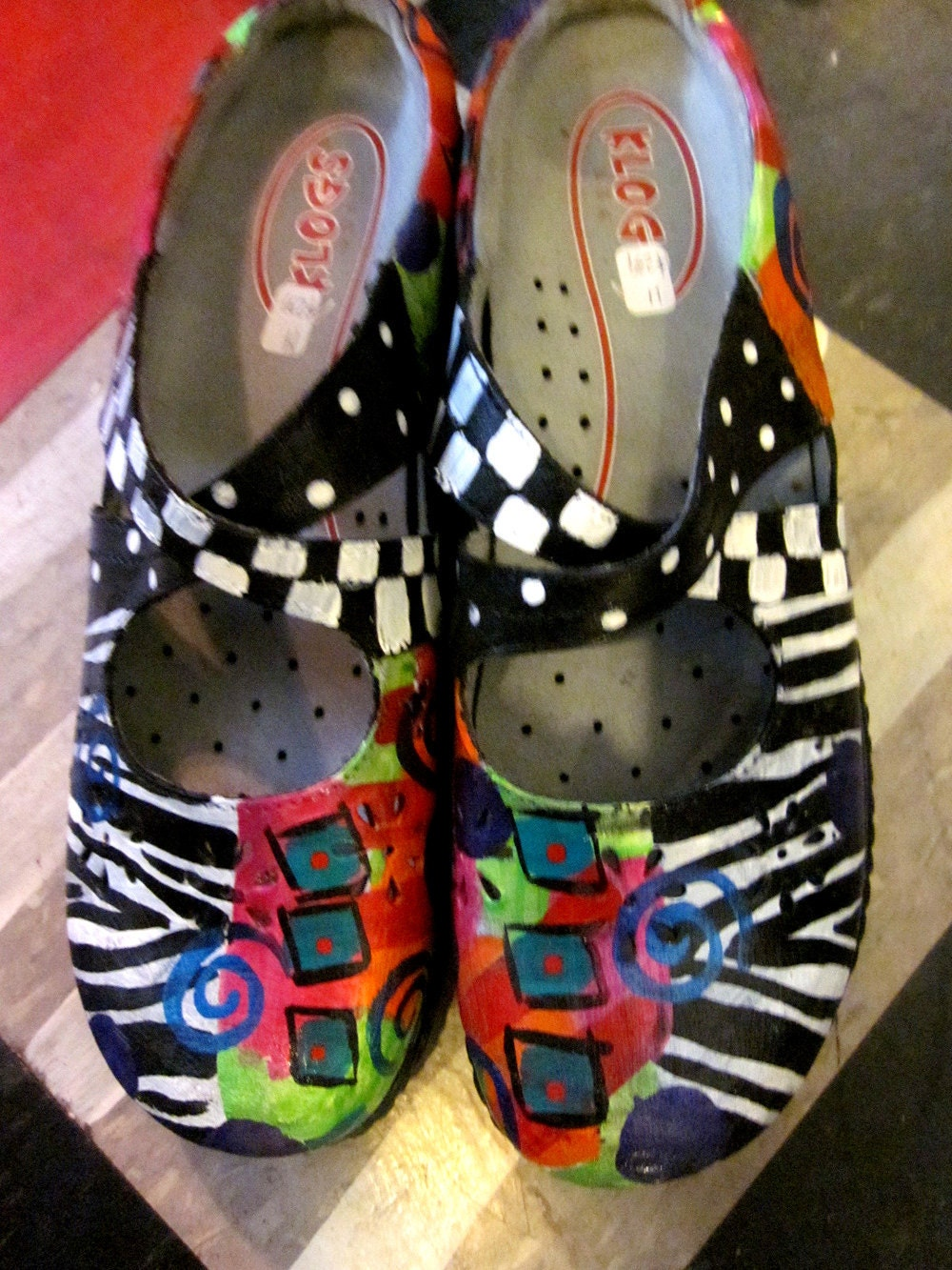 Hand Painted Leather MONA Shoes