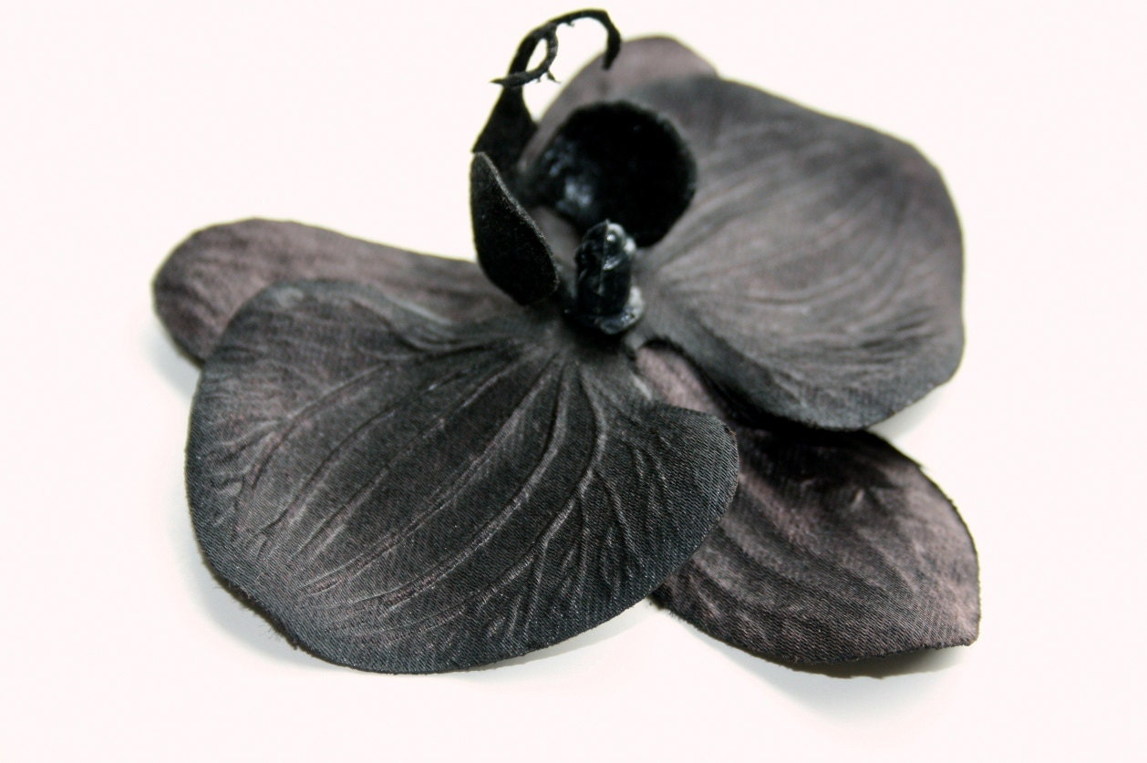 Black Flowers - Black Orchid ...   3.5 inch size - Artificial Flowers - simplyserra
