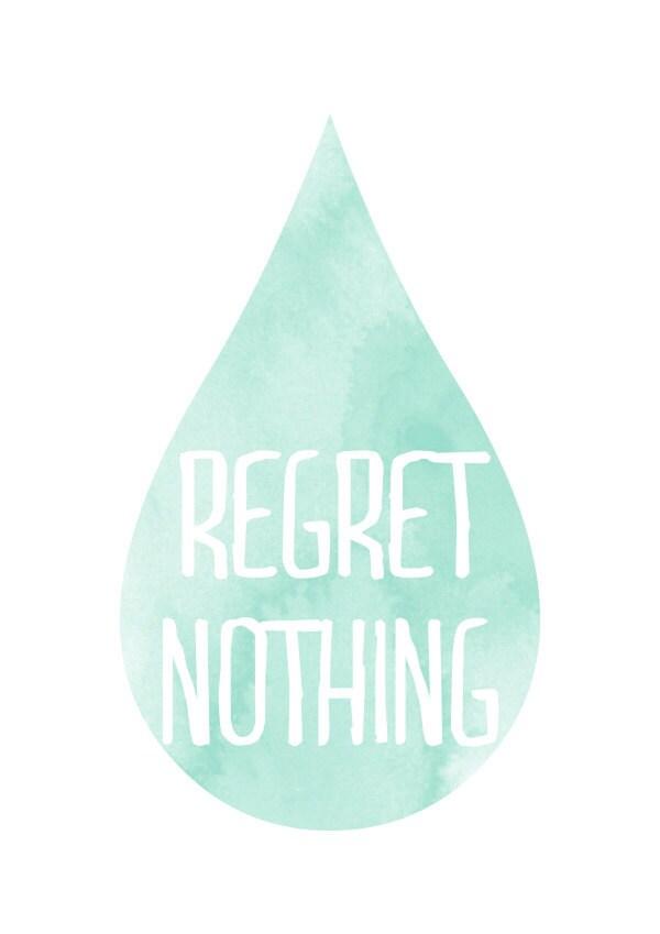 Regret Print