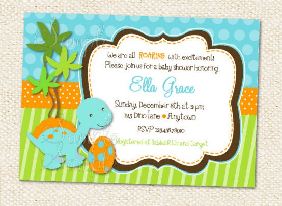 dinosaur baby shower invitation baby time juxtapost
