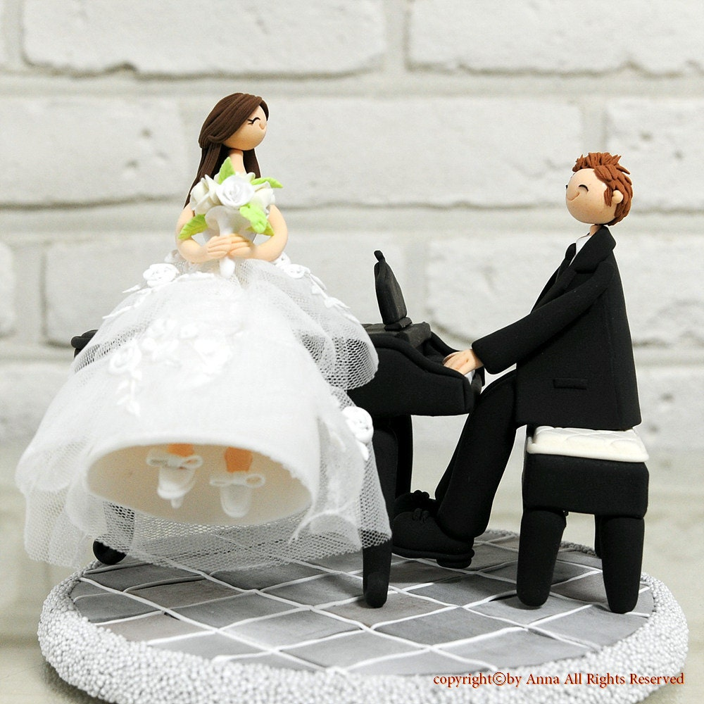 Piano wedding cake topper decoration gift keepsake