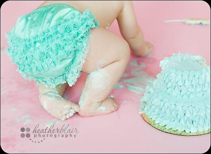 Бум Ruffle Блумер - Карибский Бирюзовый младенческой, Малыш и малыши Размеры