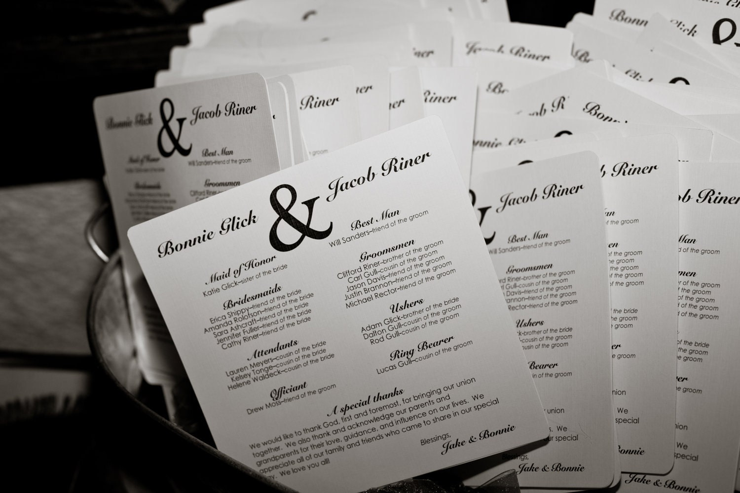 46 best images about Wedding OOS – Printable Program Templates