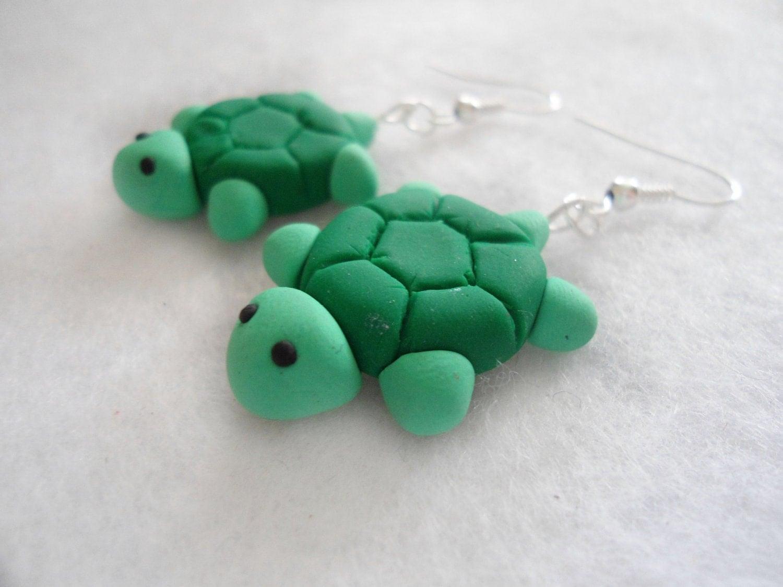 Cute green Turtles Earrings