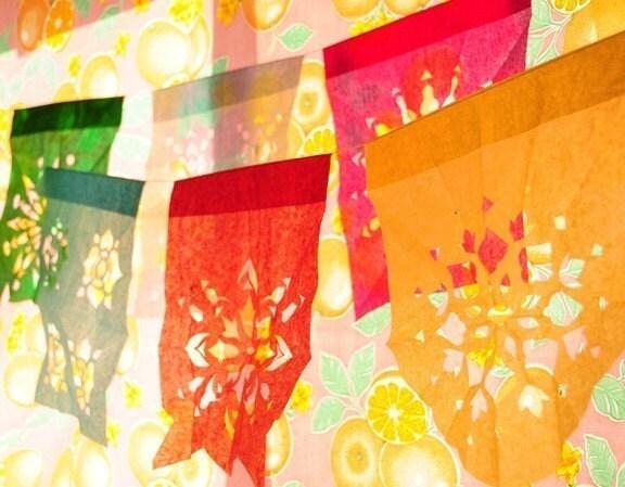 DE COLORES -M- Papel Picado (Mexican cut-paper banners)