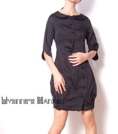 نایلون نخ سیاه و سفید سه ربع آستین نصب لاله کوتاه مدل لباس کوکتل