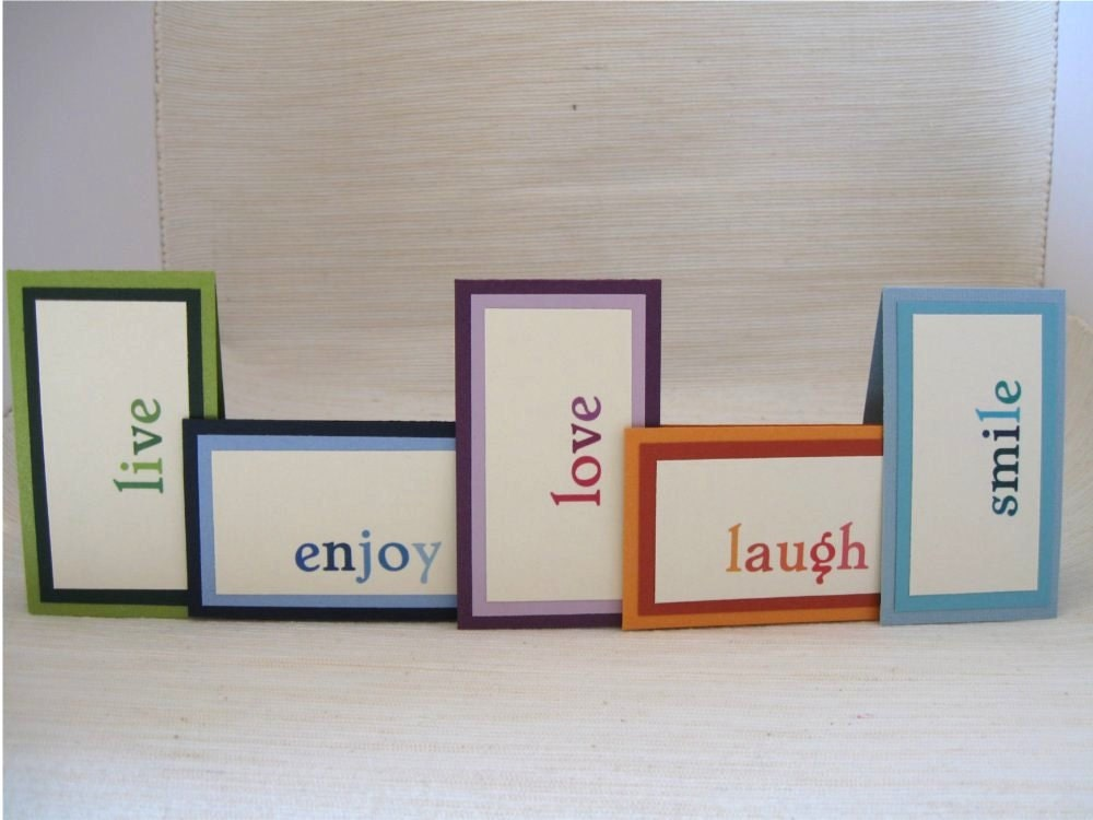 Personalized Magnetic Bookmark Set of 5 in Monochromatic Colors