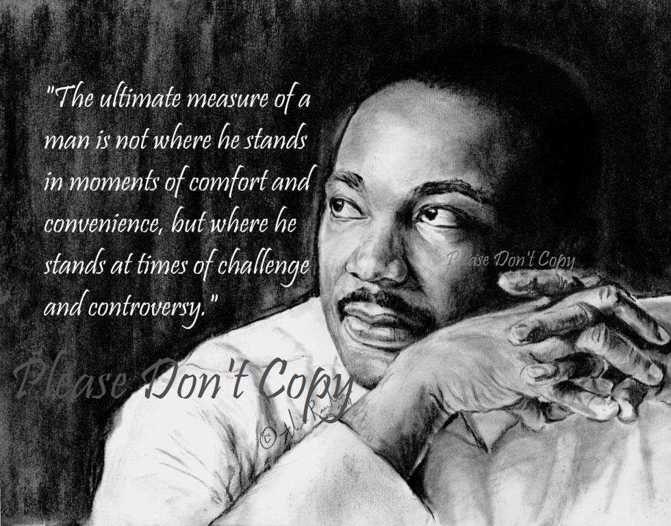 4X6 Drawing Print custom quote Martin Luther King Jr.