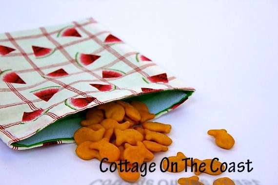 Reusable Sandwich Bag for Lunch - Picnic Time - CottageOnTheCoast