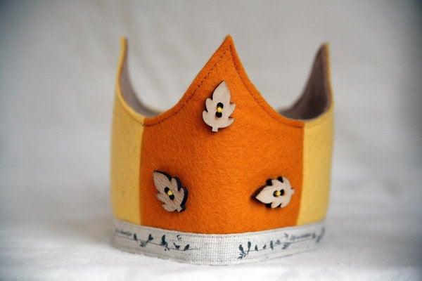 SALE Wool Felt Crown - Life is Beautiful