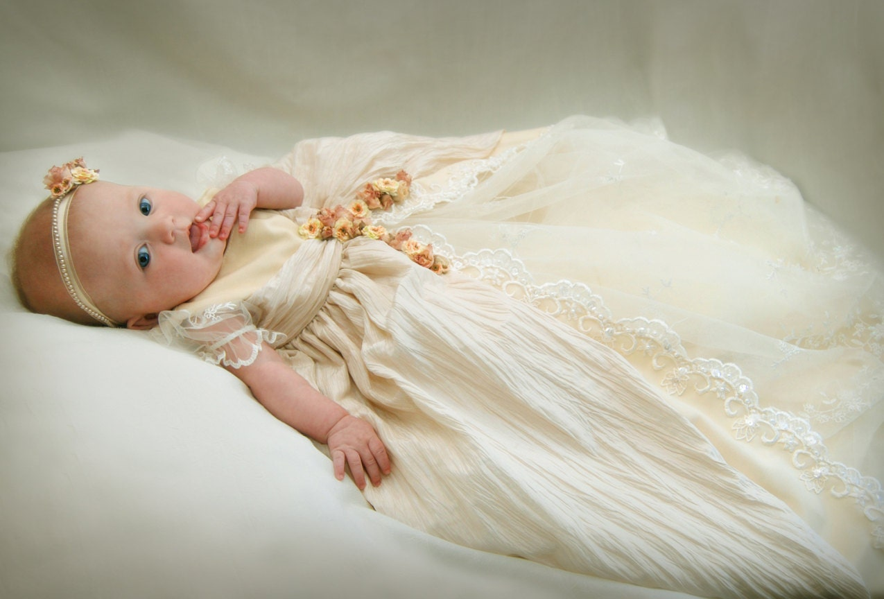 LEXI CHRISTENING DRESS, Blessing Dress, Baptism Dress, Christening Gown Custom Made