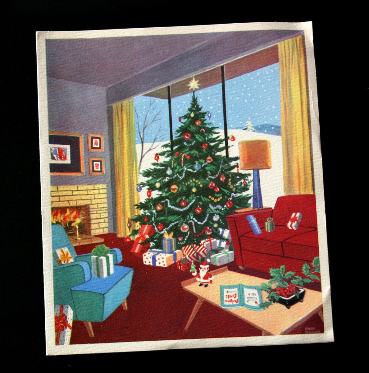 Mid-Century Modern Vintage Holiday Card