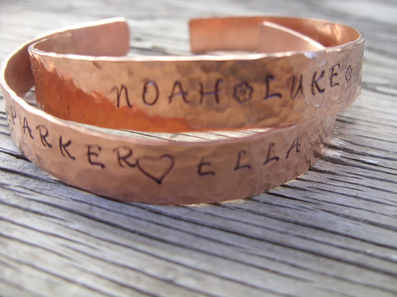 Custom Made Hand-stamped Copper Cuff Bracelet