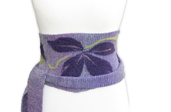 Purple Belt felt application - LavishKnitwear