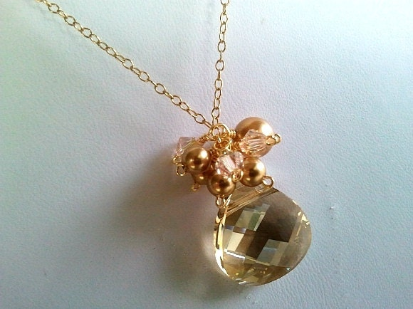 Golden Shadow Necklace - Bridal Gift, Jewelry Gift, Friend Gift
