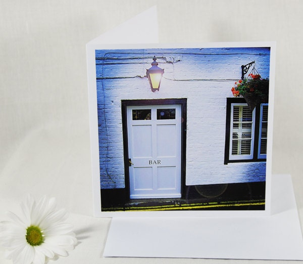 Card SALE 50% off, folded photo art greeting card, 6 inch square note card, no4 perfect bar invite, any occasion, mini print - PASiNGA