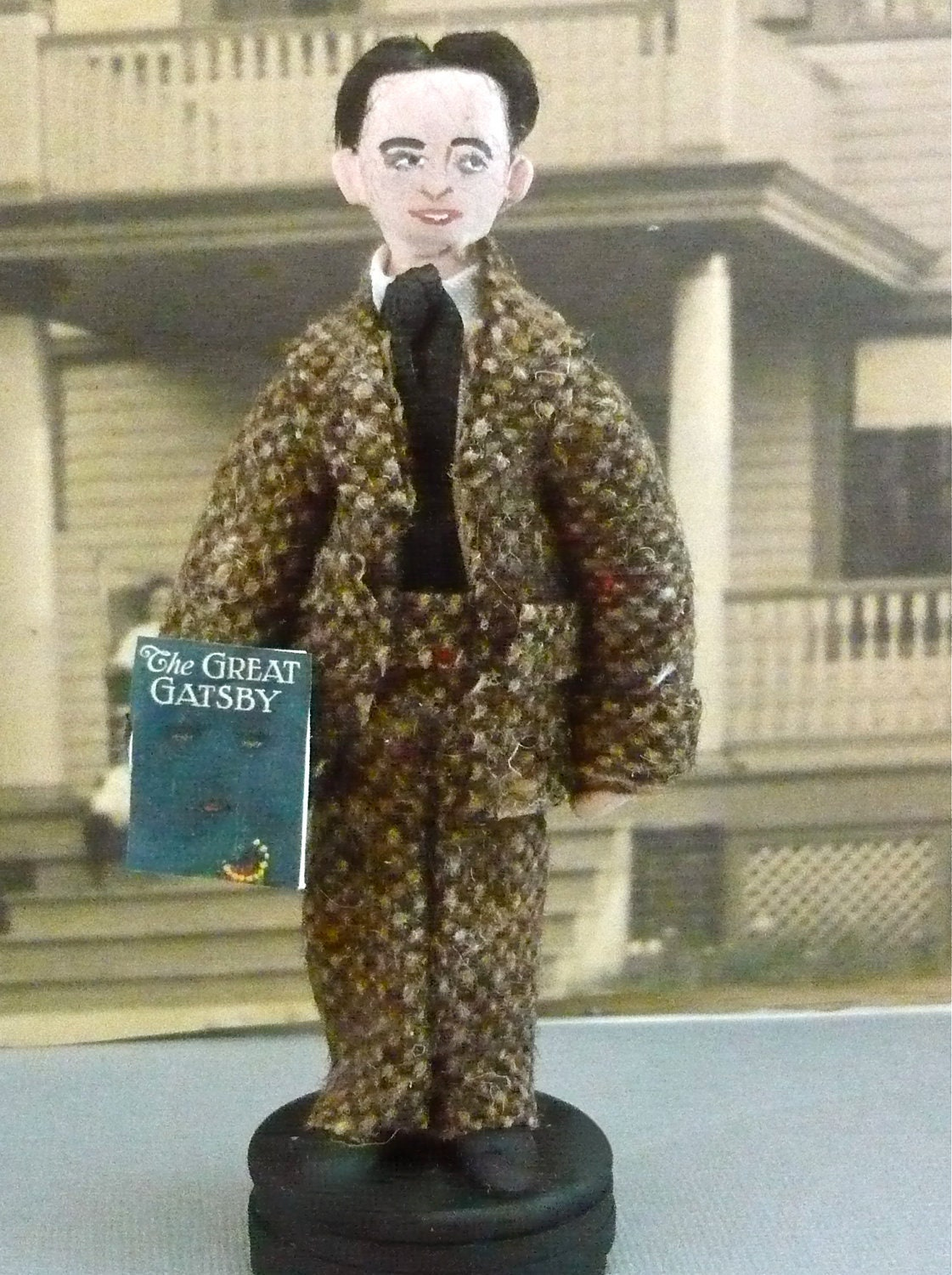 F. Scott Fitzgerald Doll Miniature Author Collectible