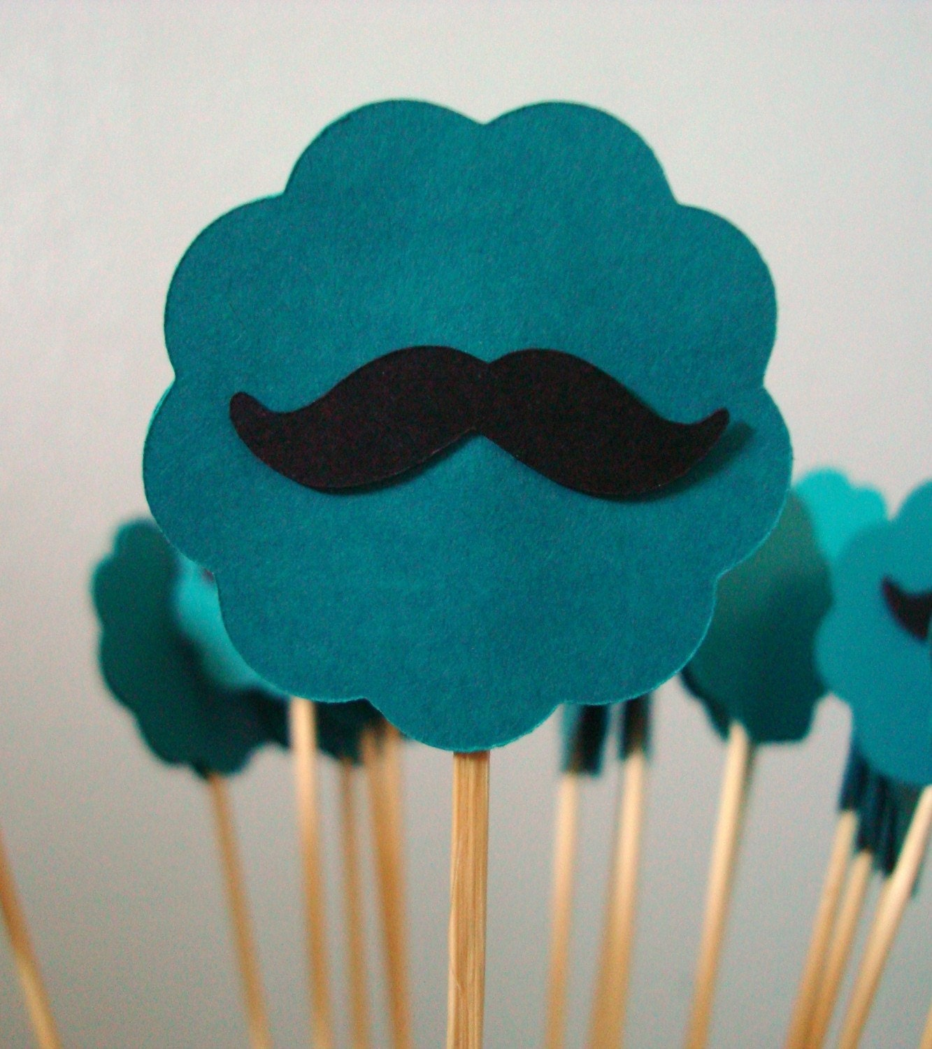 Mustache Drink Stirrer and/or Cupcake Topper