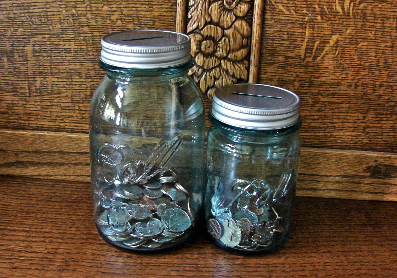 Coin Slot Mason Jar Lids - 2 Lids Only