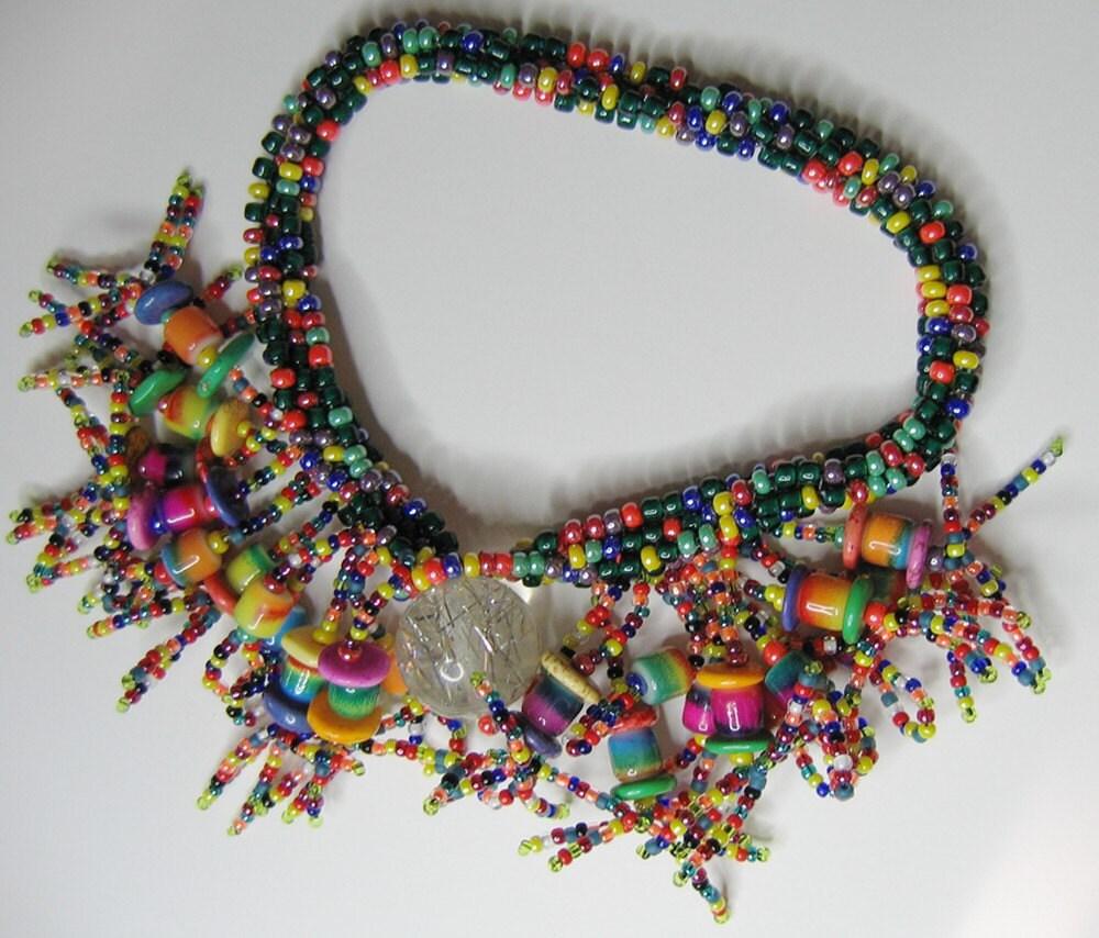 Tutti-frooti Rainbow Beaded Bracelet Queen-size - BeadEnCounter