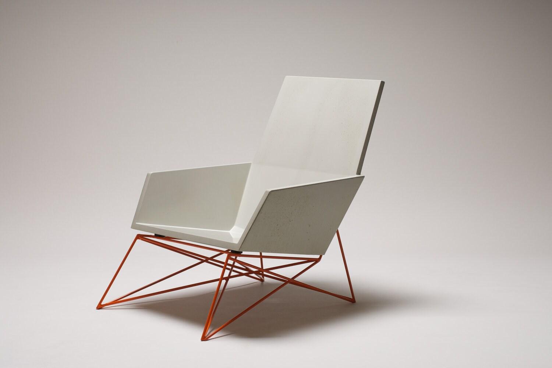 Hard Goods 'Modern Muskoka' Outdoor Chair / Concrete & Steel