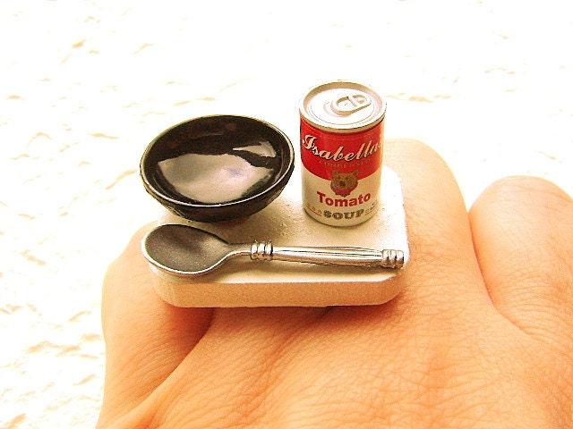 Kawaii продовольственной кольцо томатный суп