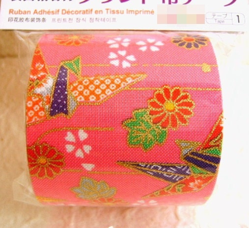 Japanese Fabric Tape Origami Crane FromJapanWithLove