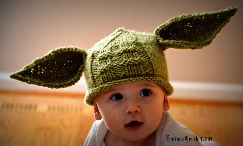 Yoda کلاه تمام اندازه نوزاد کودک نو پا Yoda یکنوع عرقچین کوچک کهمحصلین برسر میگذارند عکس حائل کردن یا شدن هالووین سفارشی دستباف سبز بافتنی