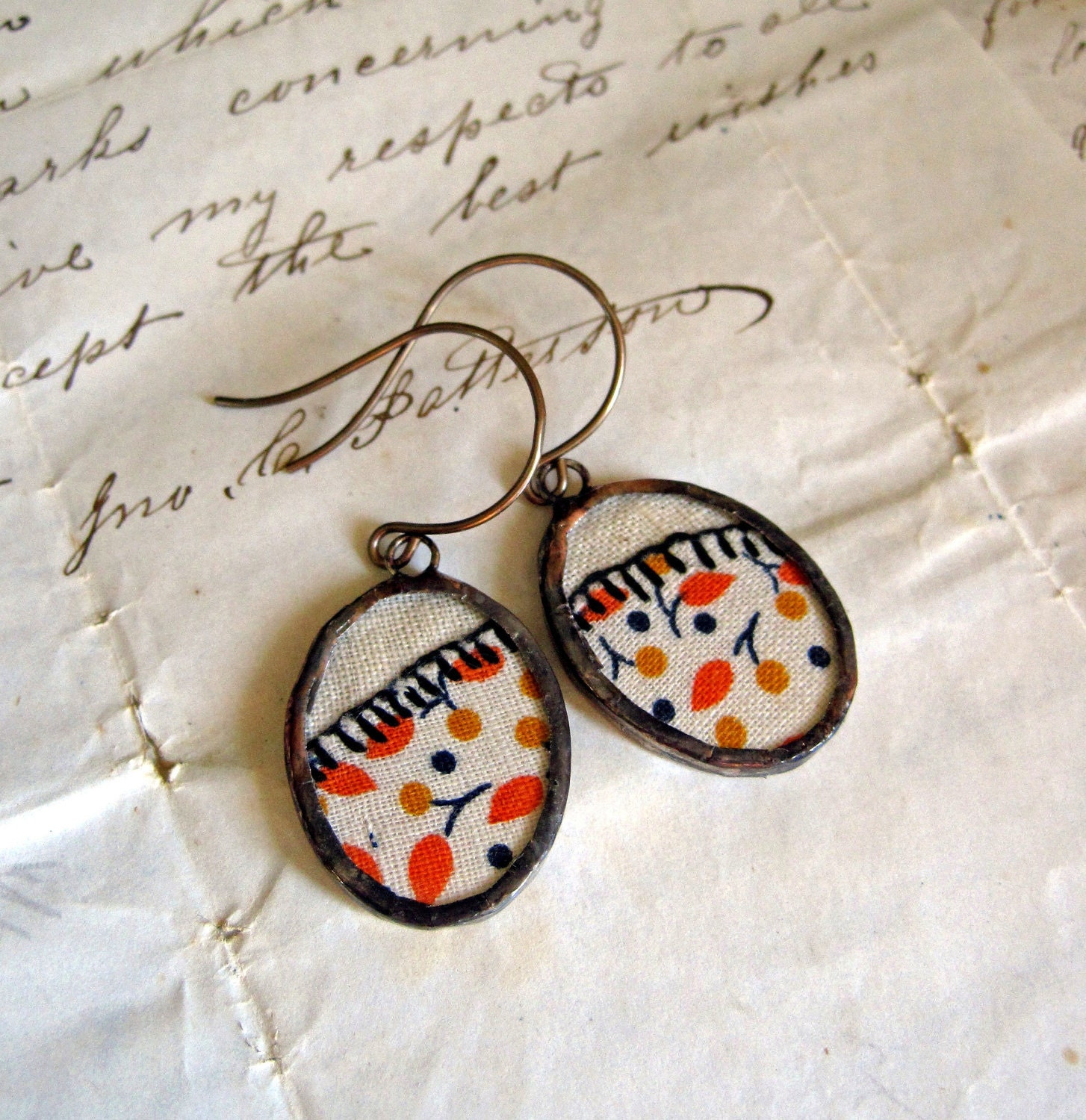 Falling Leaves Applique Earrings