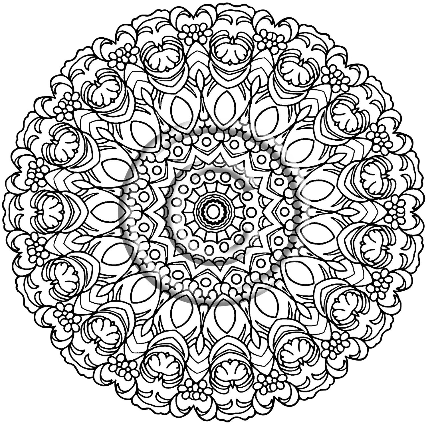 Hippie Flowers Free Coloring Pages