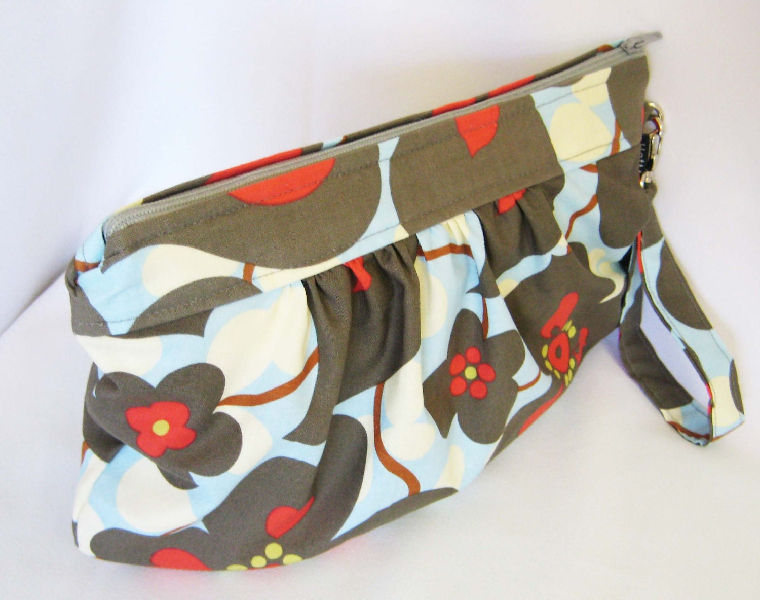 Morning Glory Large Clutch WITH detachable strap by maranda lee