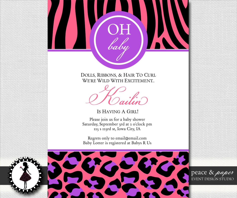 baby shower decorations for girls zebra print