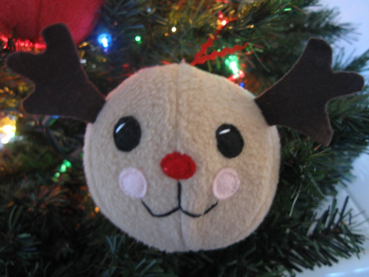 Holiday Ornament Sewing Pattern - Snowman Reindeer and Holly Berry - DIY tutorial