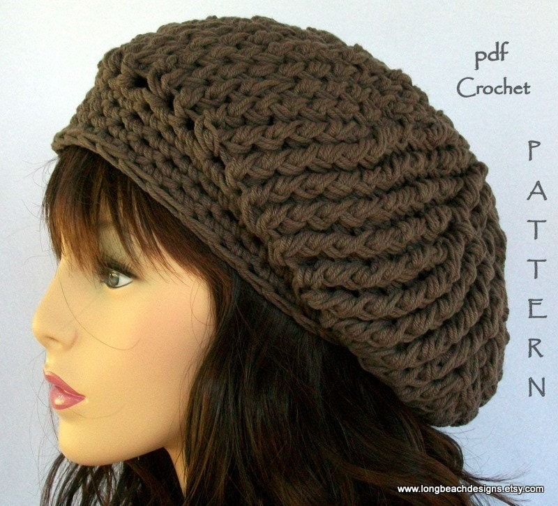 crochet hat pattern Fourth Avenue slouchy hat permission to sell finished product