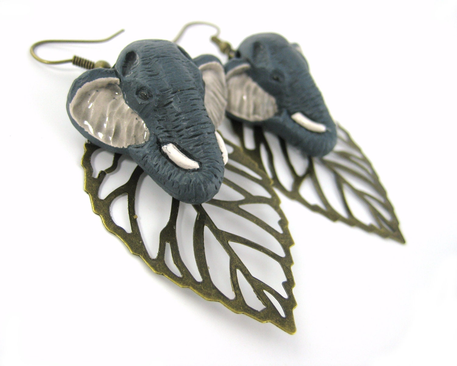 Elephant Earrings on Elephant Earrings   Ethnic Tribal Jewelry Large Brass Tribal Earrings