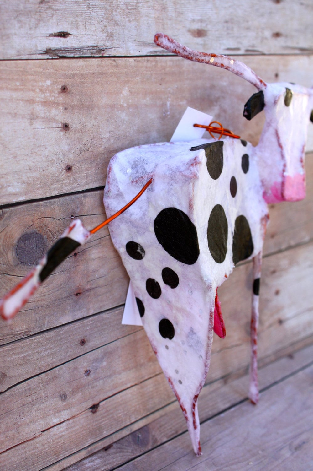 cow - paper and wire ornament
