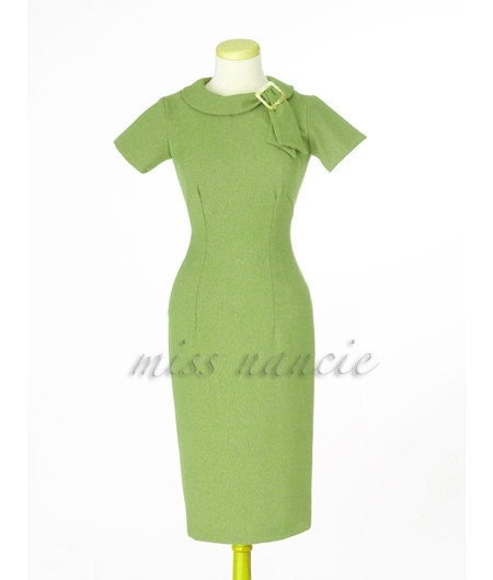 Classic Pencil dress Mad men Reproduction Joan dress wiggle