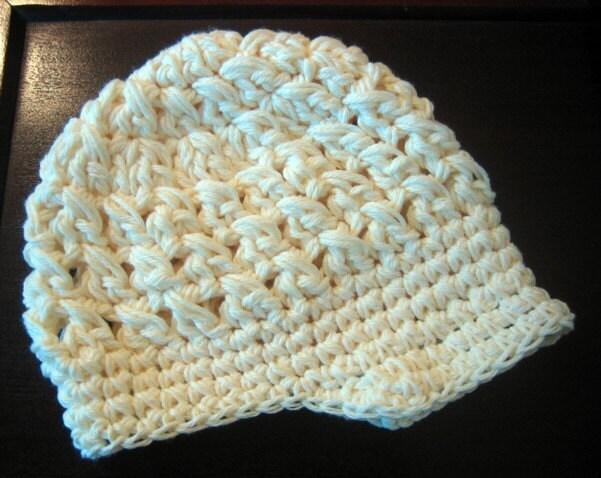 Free Crochet Visor Beanie Pattern