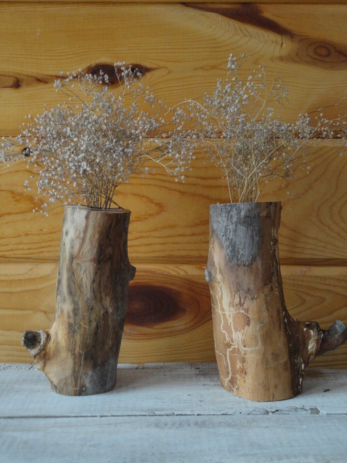 Pair of Rustic Vases
