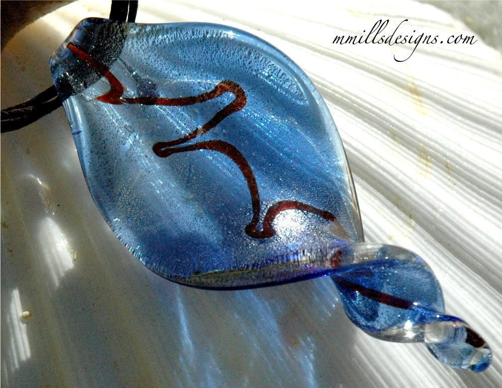 Spiral Glass Pendant Necklace - mmillsdesigns