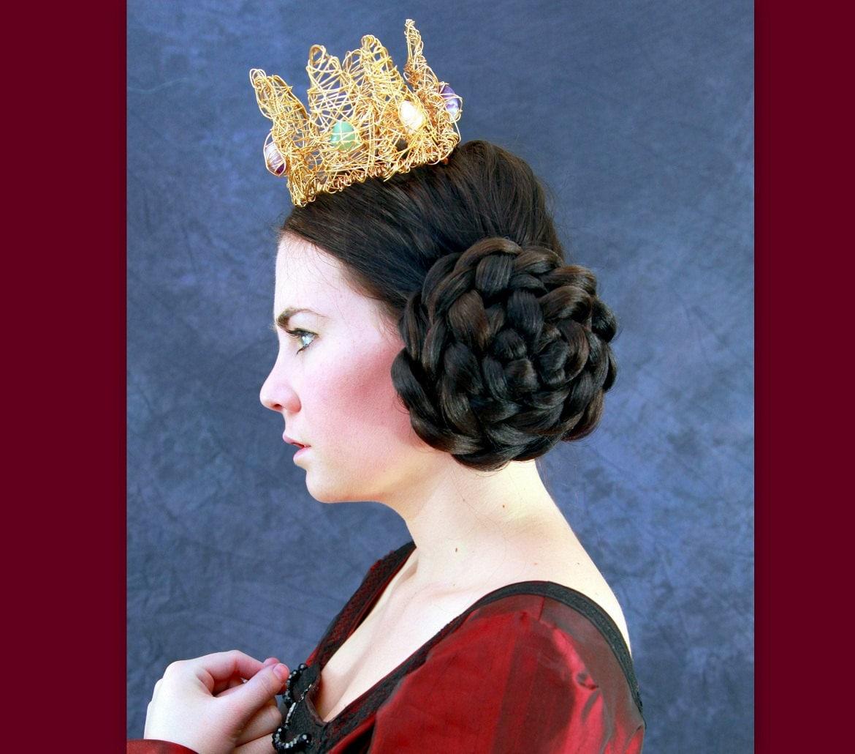 wedding bridal hairpiece hair bun cover Chignon updo Braid hair ballet SCA